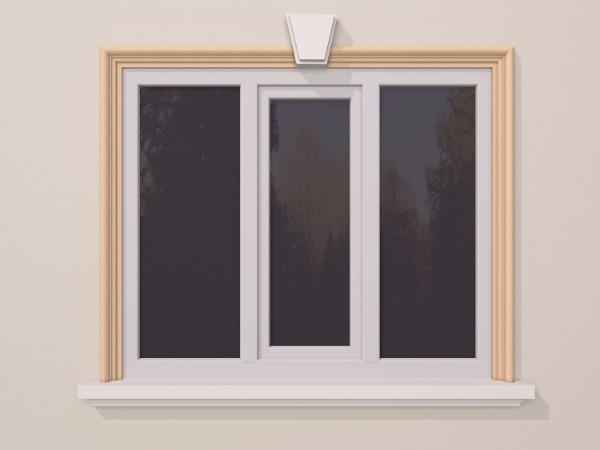 Ancadrament fereastra exterior FP102 100x55mm lungime 2m 0