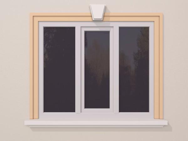 Ancadrament fereastra exterior FP111 125x35mm lungime 2m 0