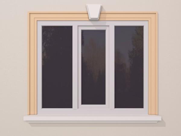 Ancadrament fereastra exterior FP112 140x35mm lungime 2m 0