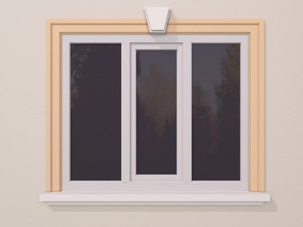 Ancadrament fereastra exterior FP120 140x40mm lungime 2m 0