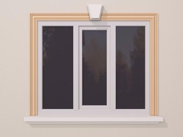 Ancadrament fereastra exterior FP129 120x30mm lungime 2m 0