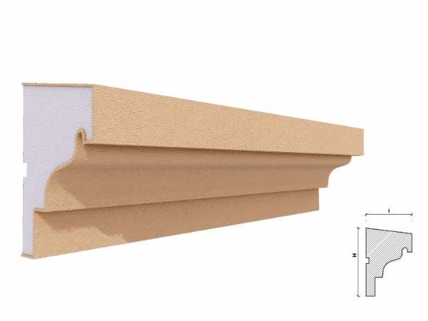 Solbanc fereastra exterior FP206 120x81mm lungime 2m 1