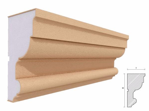 Cornisa decorativa fatada FP406 140x75mm lungime 2m 1