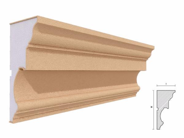 Cornisa decorativa fatada FP412 160x80mm lungime 2m 1