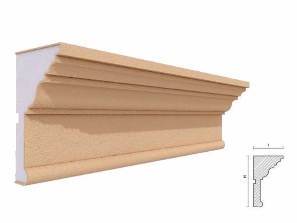 Cornisa decorativa fatada FP418 130x75mm lungime 2m 1