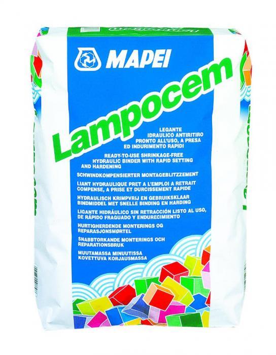 Mortar de reparatii rapid Mapei Lampocem 25 kg 0