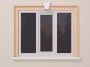 Ancadrament fereastra exterior FP106 140x62mm lungime 2m0