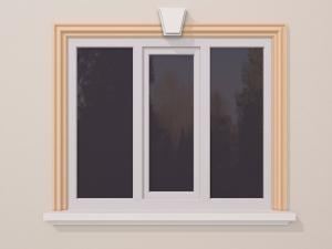 Ancadrament fereastra exterior FP116 120x40mm lungime 2m0