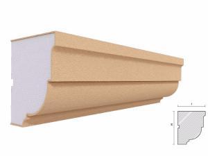 Cornisa decorativa fatada FP402 120x100mm lungime 2 m1