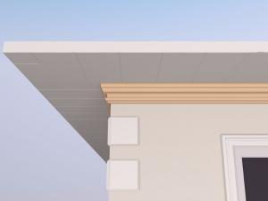 Cornisa decorativa fatada FP406 140x75mm lungime 2m0