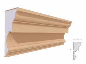 Cornisa decorativa fatada FP412 160x80mm lungime 2m1