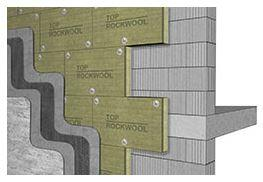 Vata minerala bazaltica Rockwool Frontrock Casa 80/120 kg/mc1