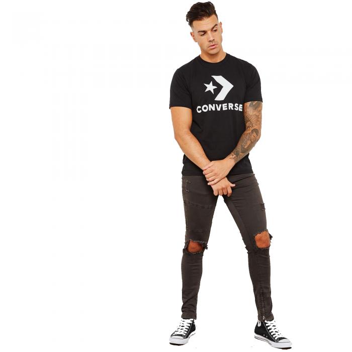 Tricou sport barbati Converse Star Chevron Tee negru-big