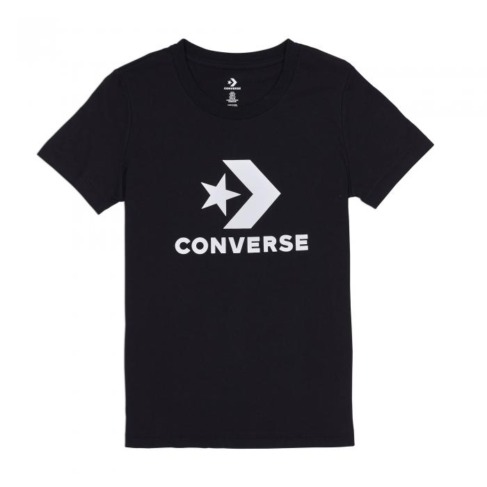 Tricou sport femei Converse STAR CHEVRON CORE SS TEE negru-big