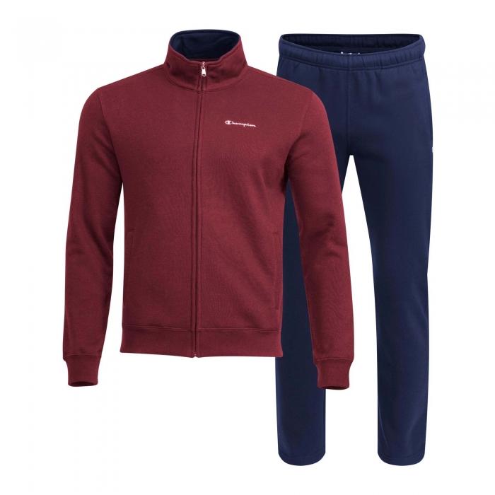 Trening pentru barbati Champion Special Fleece Full Zip visiniu/bleumarin-big