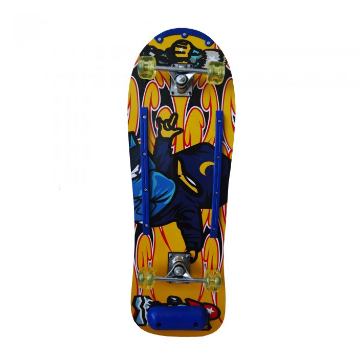 Skateboard Sporter 3010 galben/albastru-big