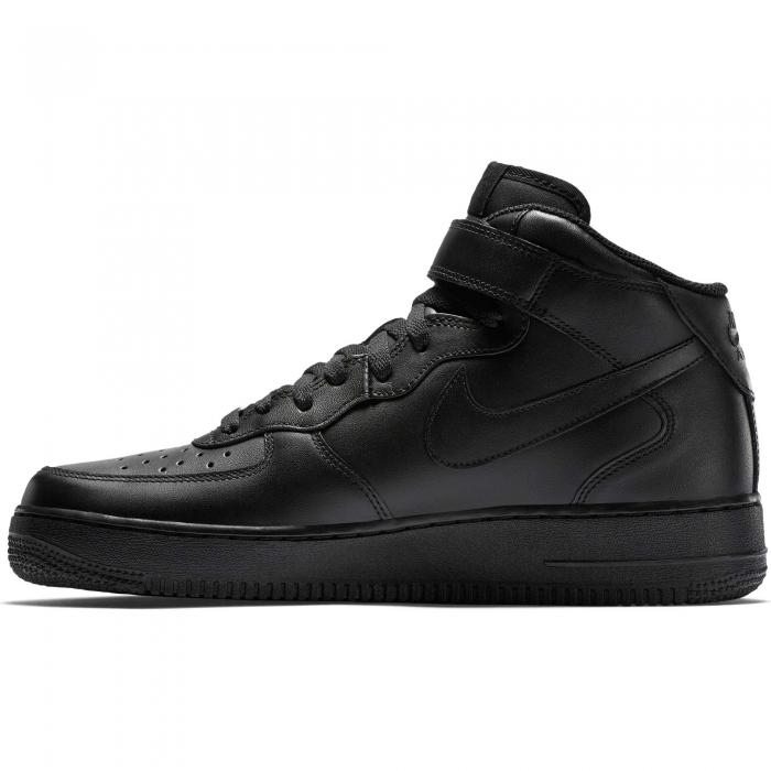 Pantofi sport inalti barbati Nike AIR FORCE 1 MID '07 negru-big
