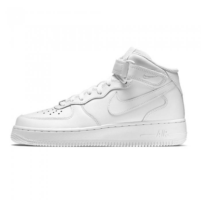 Pantofi sport medii femei Nike WMNS AIR FORCE 1 '07 MID alb-big