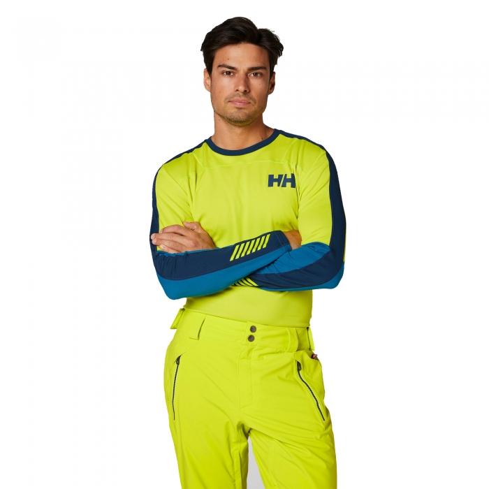 Bluza termica barbati Helly Hansen HH LIFA ACTIVE CREW verde-big