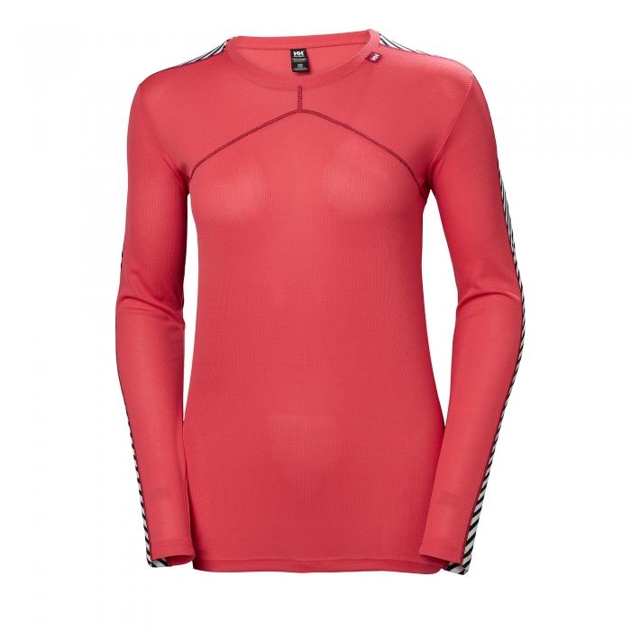 Bluza termica femei Helly Hansen W HH LIFA CREW rosu -big
