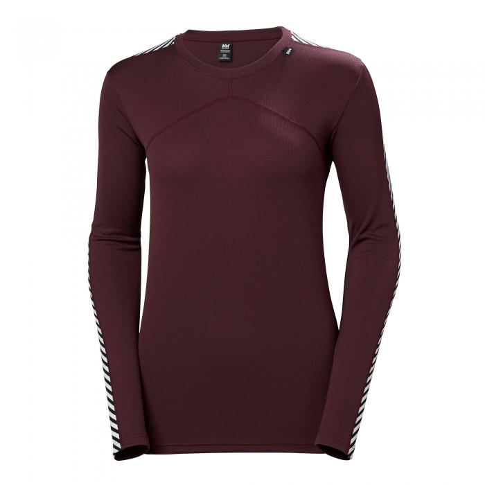 Bluza termica femei Helly Hansen W HH LIFA CREW rosu inchis -big