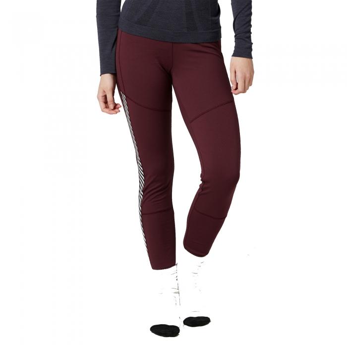 Pantaloni termici femei Helly Hansen W HH LIFA rosu inchis -big