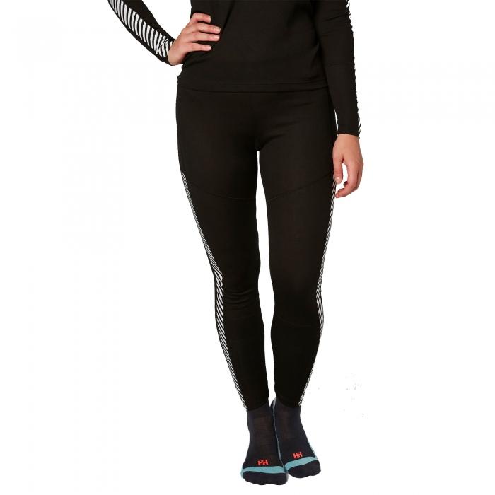 Pantaloni termici femei Helly Hansen W HH Lifa negru-big