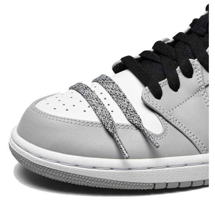 Pantofi casual barbati NIKE AIR JORDAN 1 MID gri/alb-big
