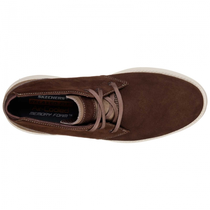 Ghete casual barbati Skechers Status-Rolano maro-big