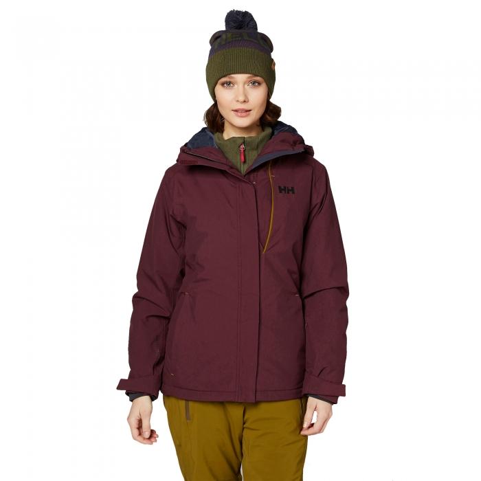 Geaca de ski femei Helly Hansen W SNOWSTAR rosu inchis -big
