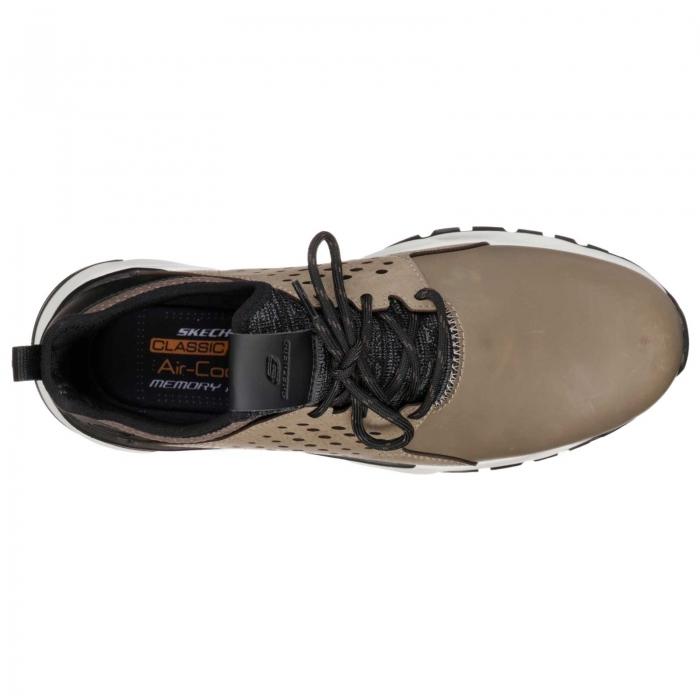Pantofi casual barbati Skechers Relven- Hemson, gri-big