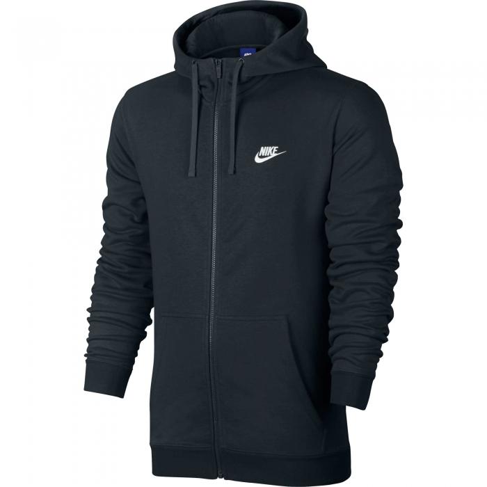 Hanorac cu fermoar barbati Nike NSW CLUB HOODIE FZ FT negru-big