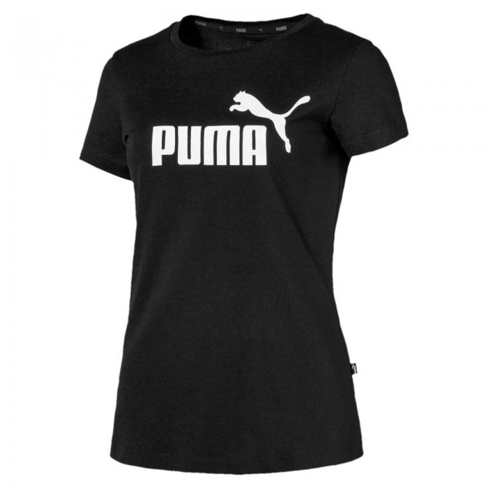 Tricou sport femei Puma ESS Logo negru-big
