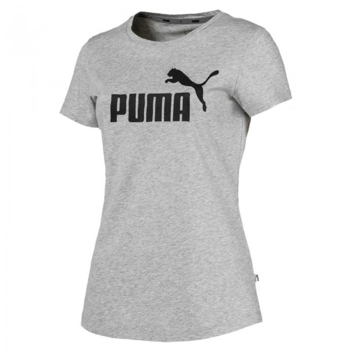 Tricou sport femei Puma ESS Logo gri-big