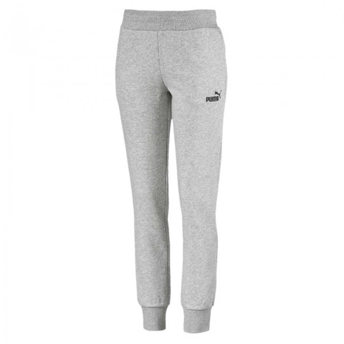 Pantaloni lungi sport femei Puma ESS Sweat  FL cl gri-big