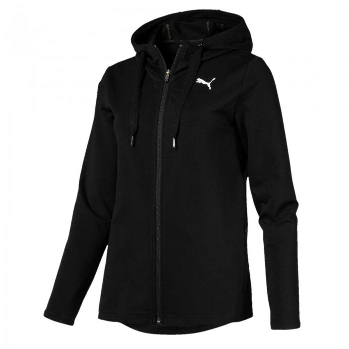 Hanorac sport cu gluga femei Puma MODERN SPORT FZ Logo negru-big