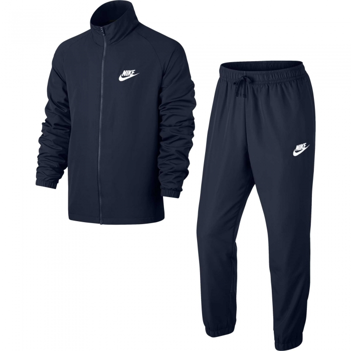 Trening barbati Nike  NSW CE TRK SUIT WVN BASIC bleumarin/alb-big