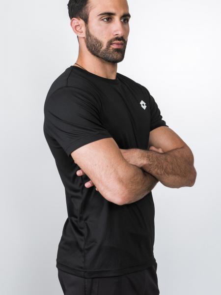 Tricou barbati Lotto L73 TEE BS PL negru-big