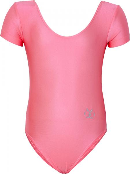 Body maneci scurte gimnastica fete Brille roz-big