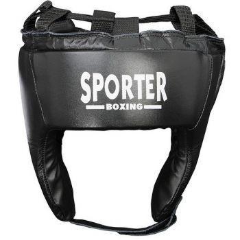 Casca box piele artificiala negru XL Sporter-big