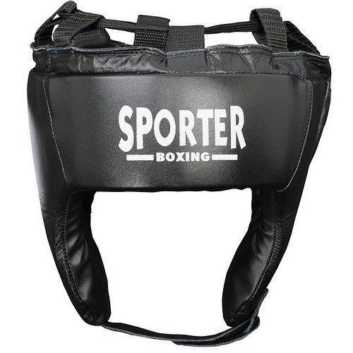 Casca box piele negru L Sporter-big