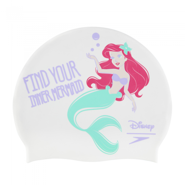 Casca inot copii Speedo Disney Little Mermaid Slogan alb/mov-big