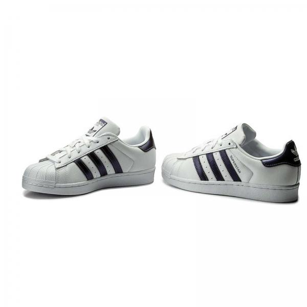 Pantofi sport dama Adidas Originals SUPERSTAR alb/albastru-big