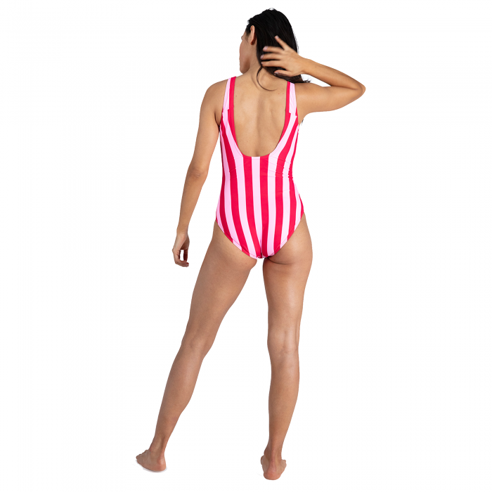 Costum baie femei Speedo Heritage Ice Cream U-Back roz/rosu-big