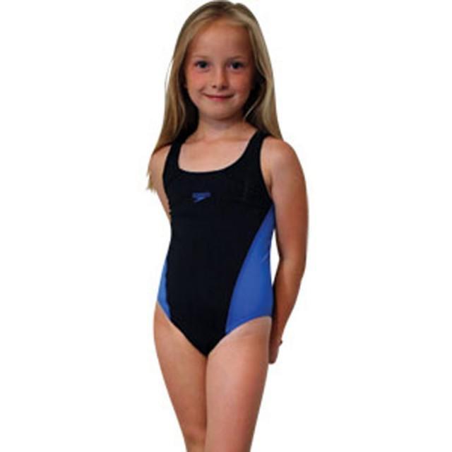 Costum de baie Lepa splash back Speedo pentru fete negru/albastru-big