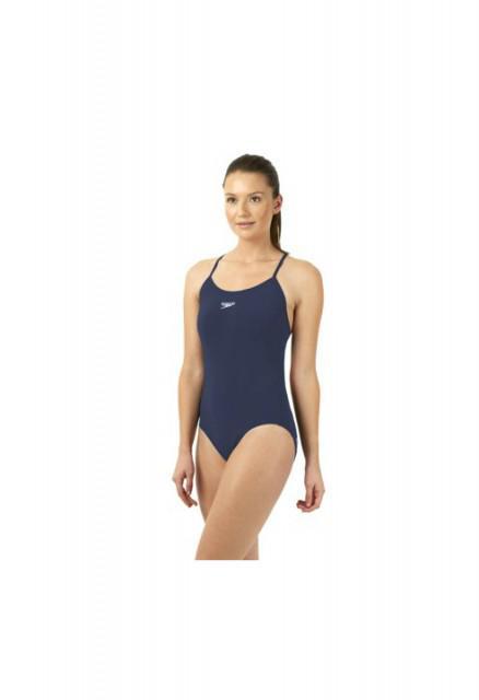 Costum de baie pentru femei Speedo solid rippleback navy-big