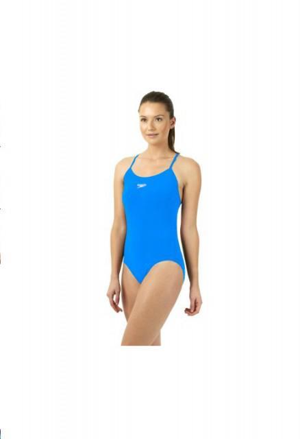 Costum de baie pentru femei Speedo Solid Rippleback albastru-big