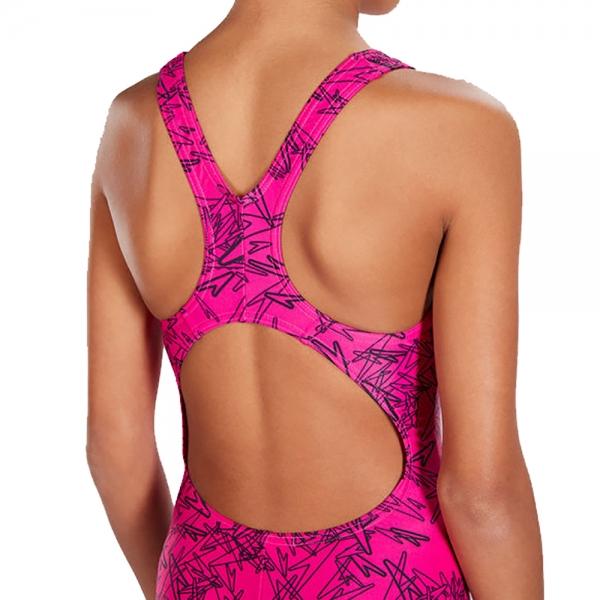 Costum de baie pentru fete Speedo Boom allover splashback rosu/negru-big