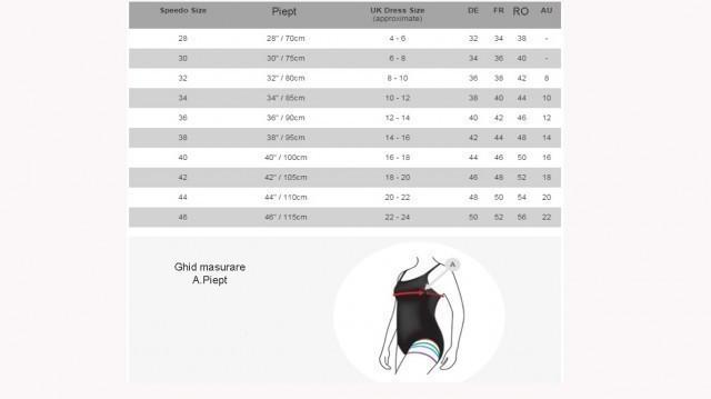 Costum de baie Speedo pentru femei Monogram allover muscleback mov-big