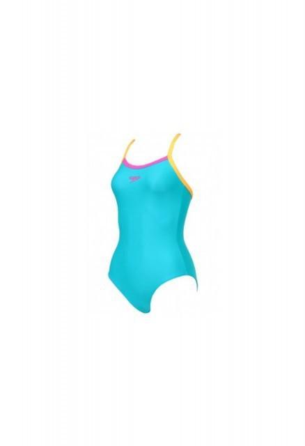 Costum de baie Speedo pentru femei thistrap muscleback portocaliu/turcoaz-big